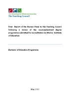 Course Review - Bachelor in Education (Primary Teaching)  front page preview