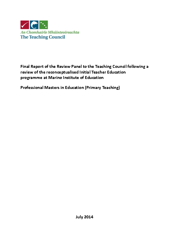Course Review - Professional Master of Education (Primary Teaching) front page preview