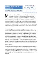 MIE Erasmus Policy Statement front page preview