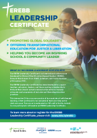 EREBB Leadership Certificate Information Leaflet front page preview